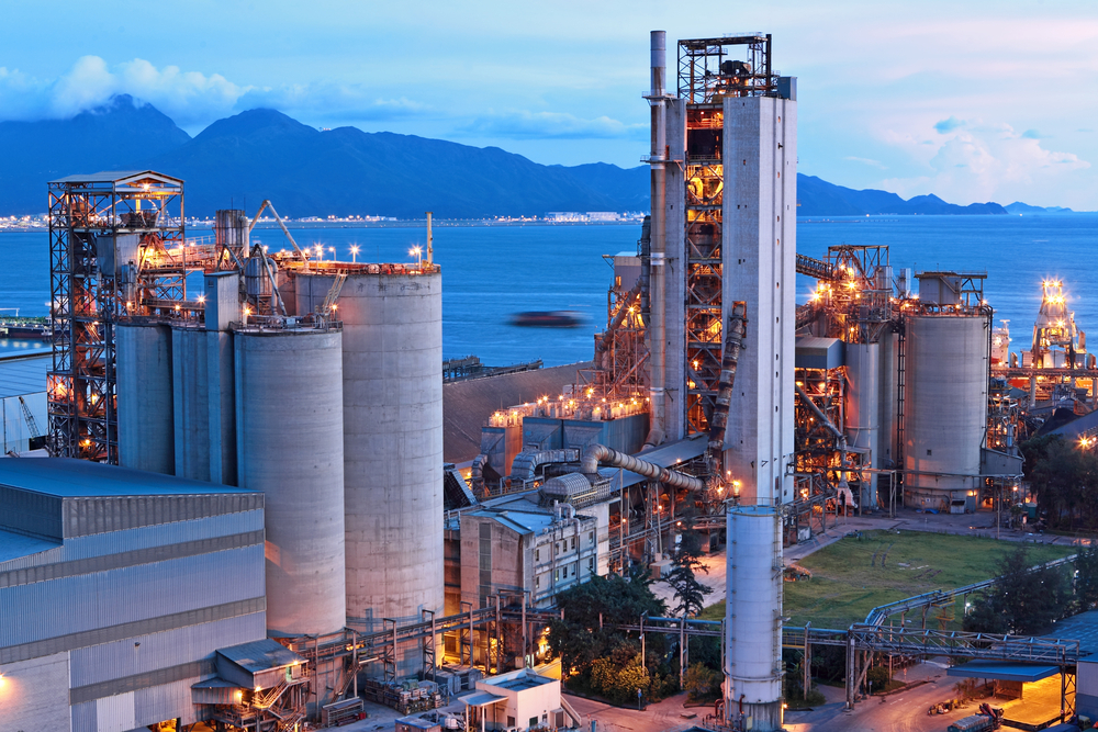 cement factory at night-1